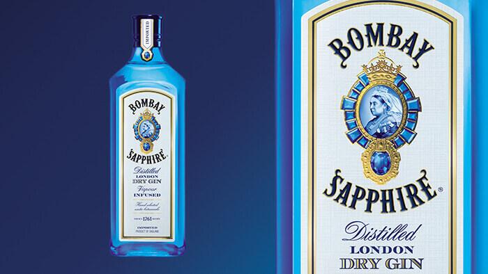 Dry Gin Blue Bottle