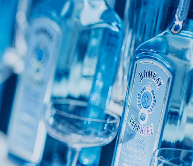 Bombay Sapphire Gin Bottles